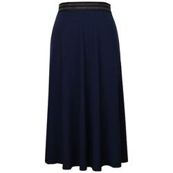 Vêtements Femme Jupes Georgedé Jupe Zola Elastiquée Bleu Marine Bleu