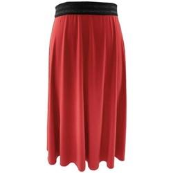 Vêtements Femme Jupes Georgedé Jupe Zola Elastiquée Rouge Rouge