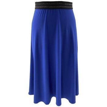 Vêtements Femme Jupes Georgedé Jupe Zola Elastiquée Bleu Royal Bleu