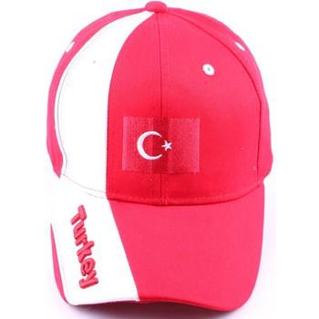 Accessoires textile Casquettes Pays Casquette Snapback Turquie Rouge et Blanche Rouge