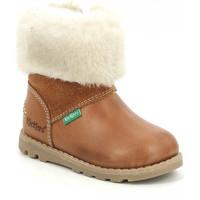 Chaussures Fille Bottes de neige Kickers Nonofur CAMEL