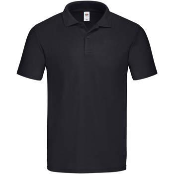 Vêtements Homme Polos manches courtes Fruit Of The Loom 63050 Noir