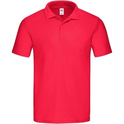 Vêtements Homme Polos manches courtes Fruit Of The Loom 63050 Rouge