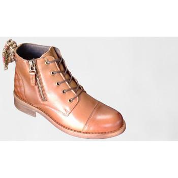 Chaussures Femme Bottines Goodstep 2502 cognac