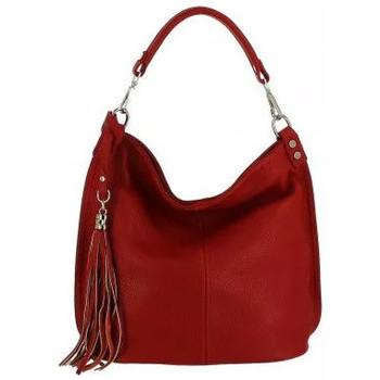 Sacs Femme Sacs porté épaule Dupond Durand Sac à main en Cuir Bartone, rouge Rouge