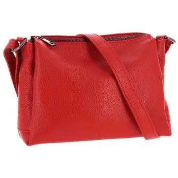 Sacs Femme Sacs Bandoulière Dupond Durand Sac bandoulière en Cuir Nyna, rouge Rouge