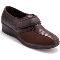 Chaussures Femme Mocassins Pediconfort Derbies extensible pieds sensibles marron