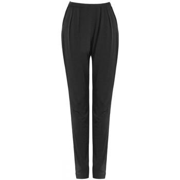 Vêtements Femme Pantalons fluides / Sarouels Georgedé Pantalon Sarouel Amélia en Jersey Noir Noir