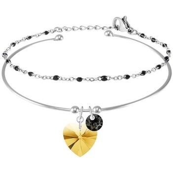 Montres & Bijoux Femme Bracelets Sc Crystal B3110-ARGENT-GOSH+B2381-ARGENT Doré