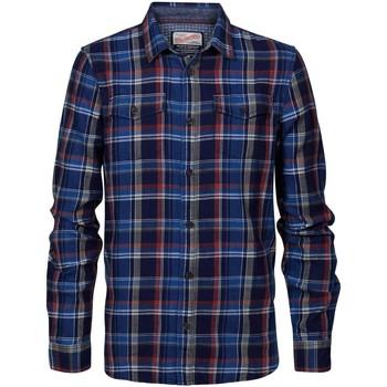 Vêtements Homme Chemises manches longues Petrol Industries SIL4210 3154 SPICE RED Bleu