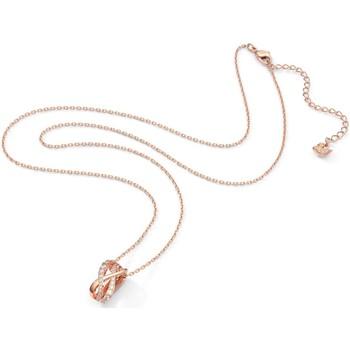 Montres & Bijoux Femme Colliers / Sautoirs Swarovski Collier Twist doré rose Rose