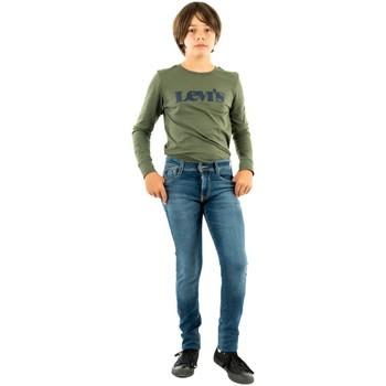 Vêtements Garçon Jeans skinny Le Temps des Cerises maxx 3001 blue bleu
