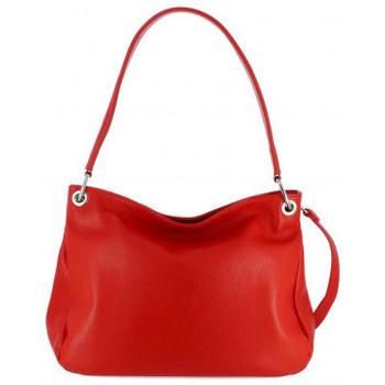 Sacs Femme Sacs porté épaule Dupond Durand Sac à main en Cuir Haston, rouge Rouge