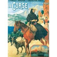 Maison & Déco Affiches, posters Corse Affiche ancienne Bonifacio Multicolore