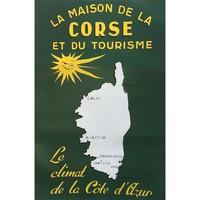 Maison & Déco Affiches, posters Corse Affiche ancienne de  70 x 50 cm Vert