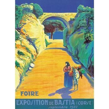 Maison & Déco Affiches, posters Corse Affiche ancienne de  Foire de Bastia Multicolore