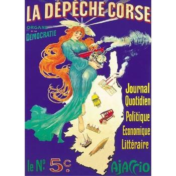 Maison & Déco Affiches, posters Corse Affiche ancienne de  La depêche Bleu