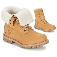 62ee2ae7557 Chaussures Femme Boots Timberland AUTHENTICS TEDDY FLEECE WP FOLD DOWN  Cognac clair
