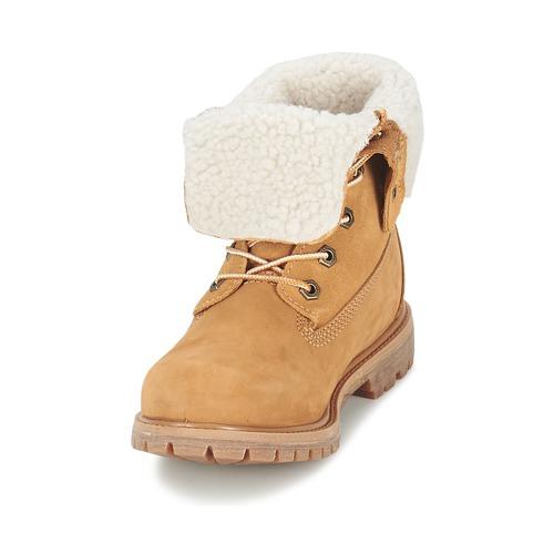 Wp Fold Down Femme Teddy Timberland Boots Authentics Cognac Clair Fleece ywvO0mN8n