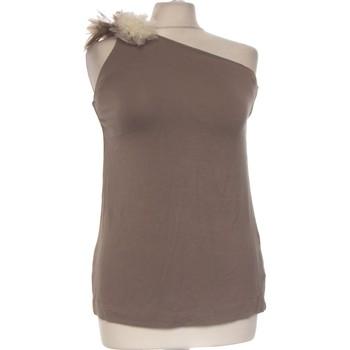 Vêtements Femme Débardeurs / T-shirts sans manche Miss Sixty Débardeur  36 - T1 - S Marron