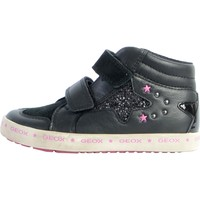 Chaussures Femme Baskets mode Geox Basket Cuir  Kilwi Noir