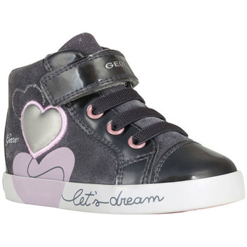 Chaussures Fille Baskets montantes Geox B Kilwi Girl sneaker Grigio