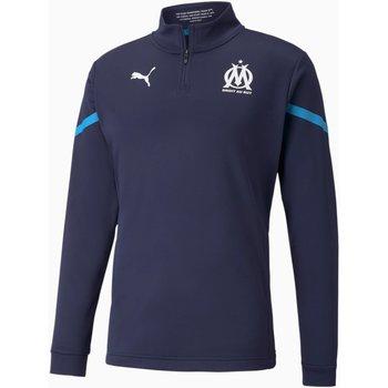 Vêtements Homme Sweats Puma Sweat Olympique de Marseille Prematch bleu marine/bleu azur