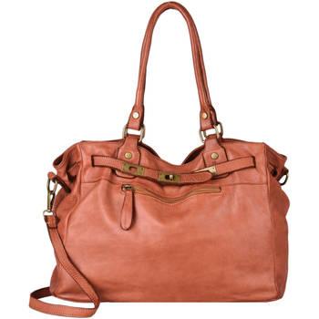 Sacs Femme Sacs porté épaule Milano Sac Shopping Canevas cuir CANEVAS 544-0DE21061 CUOIO