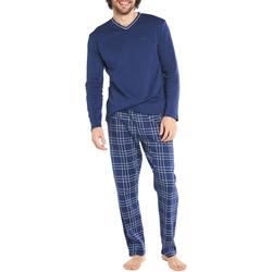 Vêtements Homme Pyjamas / Chemises de nuit Arthur Pyjama long coton Bleu marine