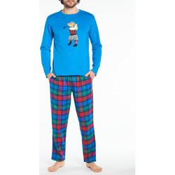 Vêtements Homme Pyjamas / Chemises de nuit Arthur Pyjama long coton Multicolore