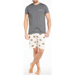 Vêtements Homme Pyjamas / Chemises de nuit Arthur Pyjama court coton Ivoire