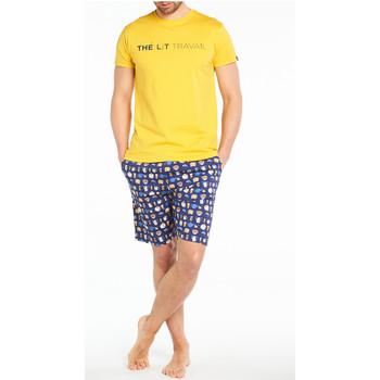 Vêtements Homme Pyjamas / Chemises de nuit Arthur Pyjama court coton Bleu marine
