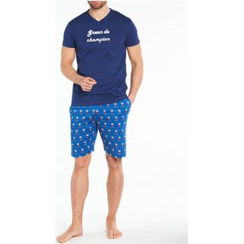 Vêtements Homme Pyjamas / Chemises de nuit Arthur Pyjama court coton Bleu