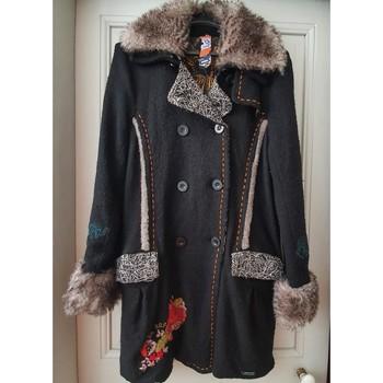 Vêtements Femme Manteaux Desigual Manteau noir Desigual Noir