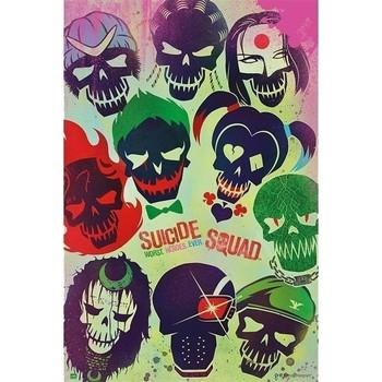 Maison & Déco Affiches, posters Dessins Animés Affiche Suicide Squad Multicolore