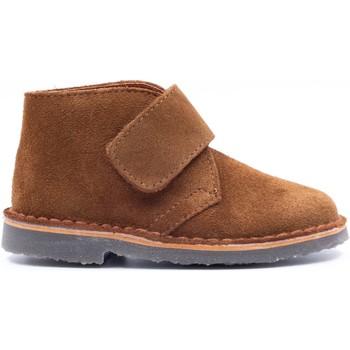 Chaussures Enfant Boots Boni & Sidonie Bottines en daim à scratch - MINI MARIUS Daim Beige Foncé
