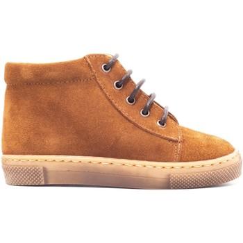 Chaussures Enfant Boots Boni & Sidonie Bottines en cuir à lacet - REGISSE Daim Marron