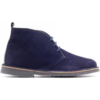 Chaussures Enfant Boots Boni & Sidonie Boots en cuir à lacet - MAXIME Bleu Marine