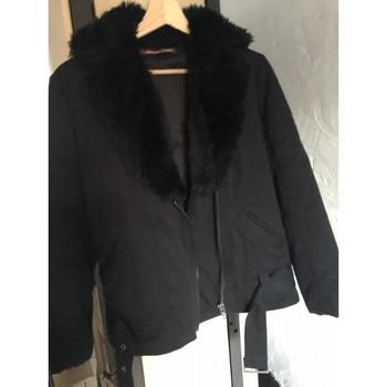 Vêtements Femme Manteaux Comptoir Des Cotonniers Manteau court type perfecto fausse fourrure Noir