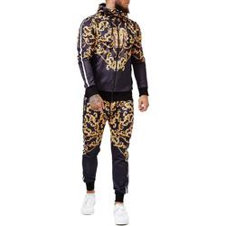 Vêtements Homme Ensembles de survêtement Monsieurmode Survêtement fashion homme Survêt 1648 noir Noir