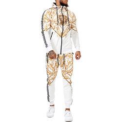 Vêtements Homme Ensembles de survêtement Monsieurmode Survêtement homme fashion Survêt 1648 blanc Blanc