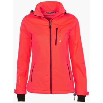 Vêtements Fille Blousons Peak Mountain - Blouson softshell 10/16 ans GANNE orange