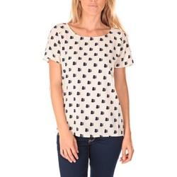 Vêtements Femme T-shirts manches courtes Vero Moda Racoon South Hamptons SS Top EA Écru Beige