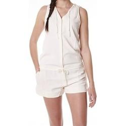 Vêtements Femme Combinaisons / Salopettes Little Marcel Combishort Cosbi E15WSHO0203 Blanc Ivoire Blanc