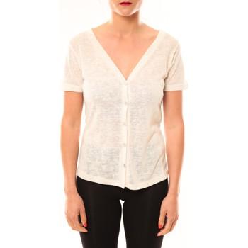 T-shirts manches courtes Meisïe Top 50-608SP14 Écru