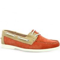 Chaussures Femme Chaussures bateau Latina Mocassins cuir velours  cail Corail