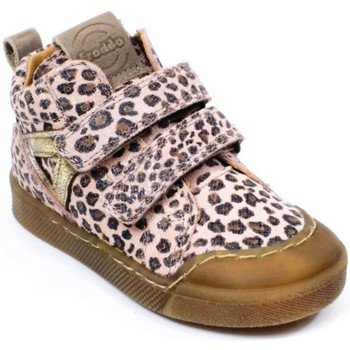 Chaussures Fille Baskets montantes Froddo Bottines cuir rose