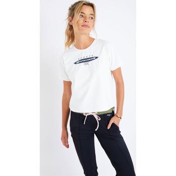 Vêtements Femme T-shirts manches courtes Banana Moon TUDO SPRINT ECRU