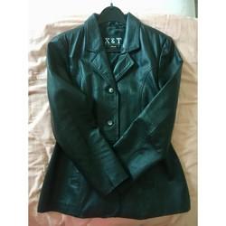 Vêtements Femme Vestes en cuir / synthétiques Sans marque Veste en cuir femme Noir