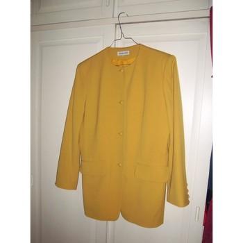 Vêtements Femme Vestes / Blazers Gerard Darel Veste /blazer-Gérard Darel -Vintage - T40 Jaune
